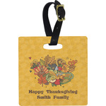 Happy Thanksgiving Square Luggage Tag (Personalized)