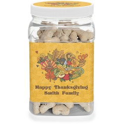 Happy Thanksgiving Pet Treat Jar (Personalized)