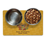 Happy Thanksgiving Dog Food Mat (Personalized)