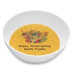 Happy Thanksgiving Melamine Bowl 8oz (Personalized)