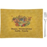 Happy Thanksgiving Glass Rectangular Appetizer / Dessert Plate - Single or Set (Personalized)