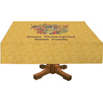 Happy Thanksgiving Rectangle Tablecloth (Personalized)