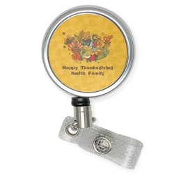 Happy Thanksgiving Retractable Badge Reel (Personalized)