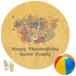 Happy Thanksgiving Round Beach Towel (Personalized)