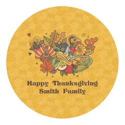 Happy Thanksgiving Round Decal - Custom Size (Personalized)