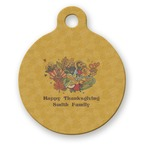 Happy Thanksgiving Round Pet Tag (Personalized)