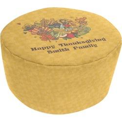 Happy Thanksgiving Round Pouf Ottoman (Personalized)