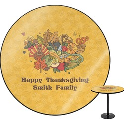 Happy Thanksgiving Round Table (Personalized)
