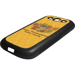 Happy Thanksgiving Rubber Samsung Galaxy 3 Phone Case (Personalized)