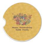 Happy Thanksgiving Sandstone Car Coasters (Personalized)