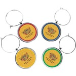 Happy Thanksgiving Wine Charms (Set of 4) (Personalized)