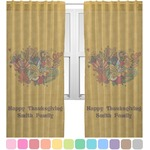 Happy Thanksgiving Sheer Curtains (Personalized)