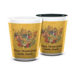 Happy Thanksgiving Ceramic Shot Glass - 1.5 oz (Personalized)