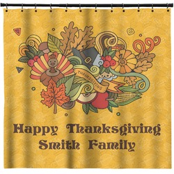 Happy Thanksgiving Shower Curtain (Personalized)