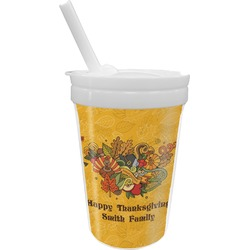 Happy Thanksgiving Sippy Cup with Straw (Personalized)