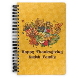 Happy Thanksgiving Spiral Bound Notebook (Personalized)