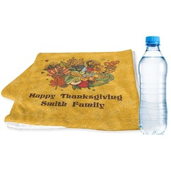 Happy Thanksgiving Sports & Fitness Towel (Personalized)