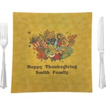 Happy Thanksgiving Glass Square Lunch / Dinner Plate 9.5
