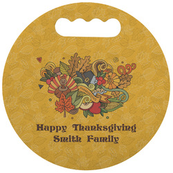Happy Thanksgiving Stadium Cushion (Round) (Personalized)