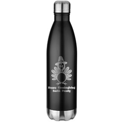 Happy Thanksgiving Water Bottle - 26 oz. Stainless Steel (Personalized)