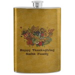 Happy Thanksgiving Stainless Steel Flask (Personalized)