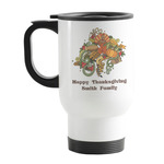 Happy Thanksgiving Stainless Steel Travel Mug with Handle