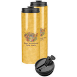 Happy Thanksgiving Stainless Steel Skinny Tumbler (Personalized)
