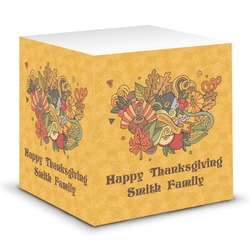 Happy Thanksgiving Sticky Note Cube (Personalized)