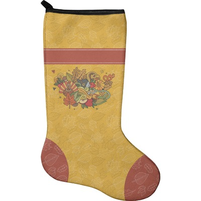 Happy Thanksgiving Holiday Stocking - Neoprene (Personalized)