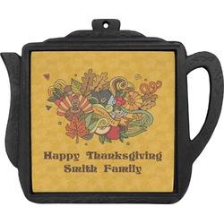 Happy Thanksgiving Teapot Trivet (Personalized)