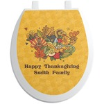 Happy Thanksgiving Toilet Seat Decal (Personalized)