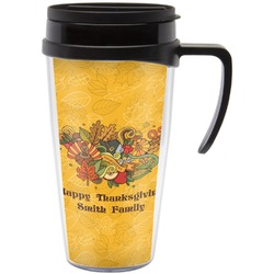 Happy Thanksgiving Travel Mug with Handle (Personalized)