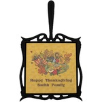 Happy Thanksgiving Trivet with Handle (Personalized)