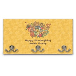 Happy Thanksgiving Wall Mounted Coat Rack (Personalized)