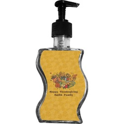 Happy Thanksgiving Wave Bottle Soap / Lotion Dispenser (Personalized)