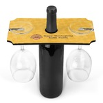 Happy Thanksgiving Wine Bottle & Glass Holder (Personalized)