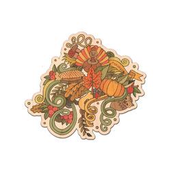 Happy Thanksgiving Genuine Wood Sticker (Personalized)