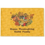 Happy Thanksgiving Woven Mat (Personalized)