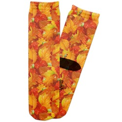 Fall Leaves Adult Crew Socks