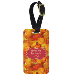 Fall Leaves Aluminum Luggage Tag