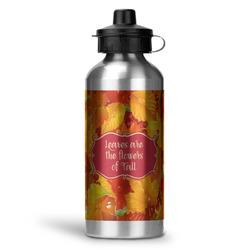 Fall Leaves Water Bottle - Aluminum - 20 oz