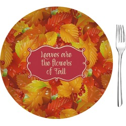 "Fall Leaves 8"" Glass Appetizer / Dessert Plates - Single or Set"