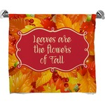 Fall Leaves Full Print Bath Towel