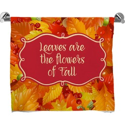 Fall Leaves Full Print Bath Towel