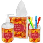 Fall Leaves Bathroom Accessories Set