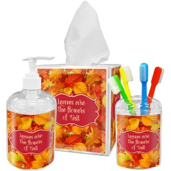Fall Leaves Acrylic Bathroom Accessories Set
