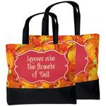 Fall Leaves Beach Tote Bag