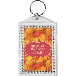 Fall Leaves Bling Keychain