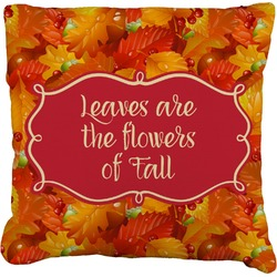 """Fall Leaves Faux-Linen Throw Pillow 16"""""""