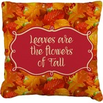 Fall Leaves Faux-Linen Throw Pillow